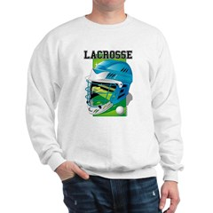 Lacrosse Helmet (Cyan) Sweatshirt