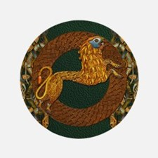 Harvest Moons Celtic Lion Button