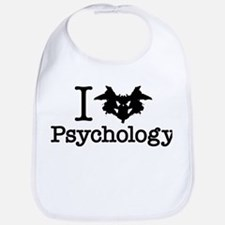 I Heart (Rorschach Inkblot) Psychology Bib