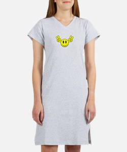 Cute Black smiley face Women's Nightshirt