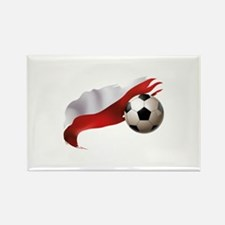 Poland Soccer Rectangle Magnet