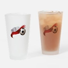 Poland Soccer Drinking Glass