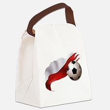 Poland Soccer Canvas Lunch Bag