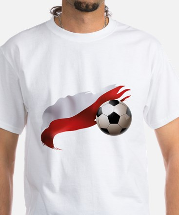 Poland Soccer White T-Shirt