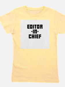 Funny Editor Girl's Tee