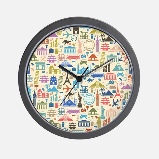 Funny Travel Wall Clock
