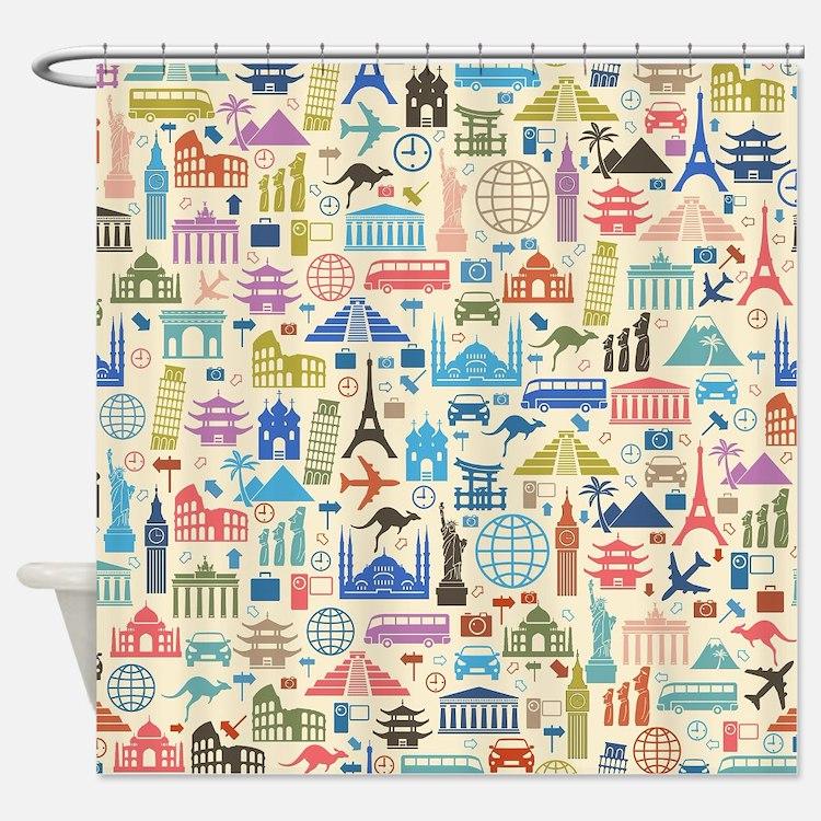 Cute Travel Shower Curtain