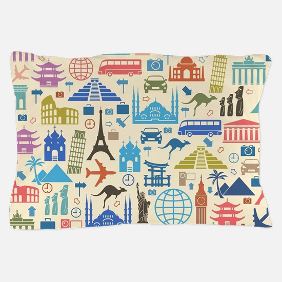world Travel Pillow Case