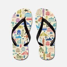 world Travel Flip Flops