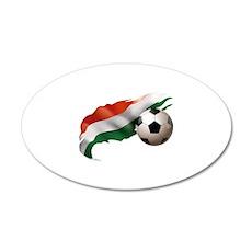 Hungary Soccer 22x14 Oval Wall Peel