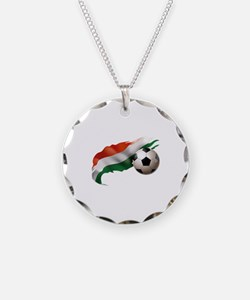 Hungary Soccer Necklace