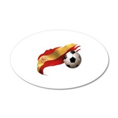 Spain Soccer 22x14 Oval Wall Peel