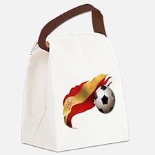 Spain Soccer Canvas Lunch Bag