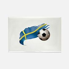 Sweden Soccer Rectangle Magnet