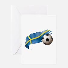 Sweden Soccer Greeting Card