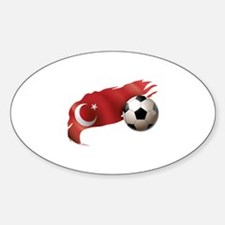 Turkey Soccer Sticker (Oval)