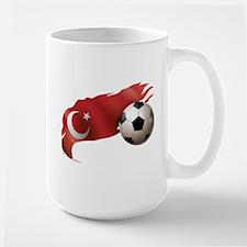 Turkey Soccer Large Mug