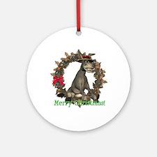 Donkey Ornament (Round)