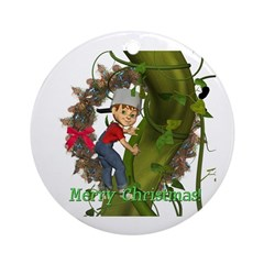 Jack and the Beanstalk Ornament (Round)