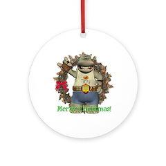 Heath Hippo Ornament (Round)