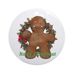 Gingerbread Man Ornament (Round)