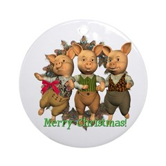 The Three Little Pigs Ornament (Round)