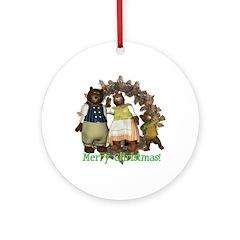 The Three Bears Ornament (Round)