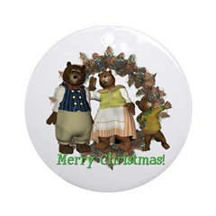 The Three Bears Ornament (Round)