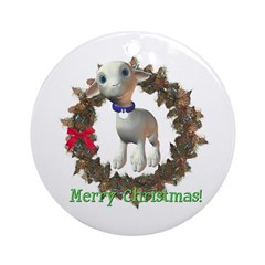 Lamb Ornament (Round)