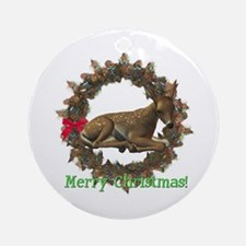 Fawn Ornament (Round)