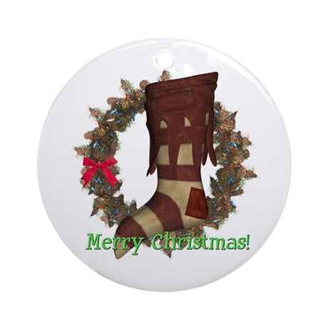 Stocking Ornament (Round)