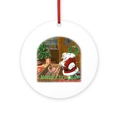 Praying Santa Ornament (Round)