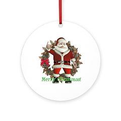 Santa Ornament (Round)