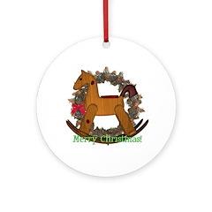 Rocking Horse Ornament (Round)