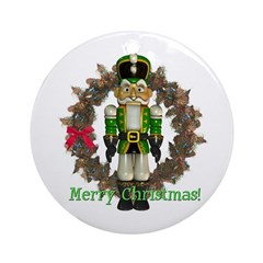 Nutcracker (Green) Ornament (Round)