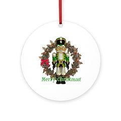 Nutcracker (Green) Ornament (Round)
