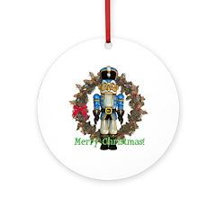 Nutcracker (Blue) Ornament (Round)