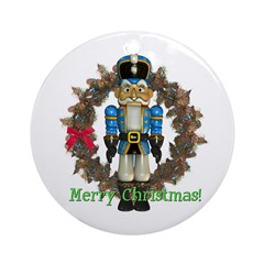 Nutcracker (Blue) Ornament (Round)