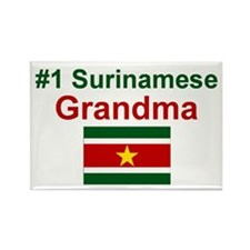 Surinamese Grandma Rectangle Magnet