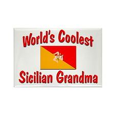 Coolest Sicilian Grandma Rectangle Magnet