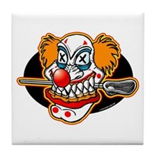 Lacrosse Evil Clown Tile Coaster