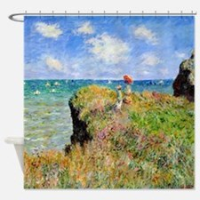 Clifftop Walk at Pourville Shower Curtain