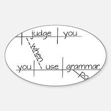 Grammar Black Text Decal