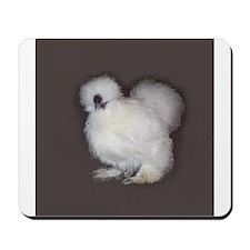 White Silkie Mousepad