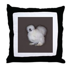 White Silkie Throw Pillow