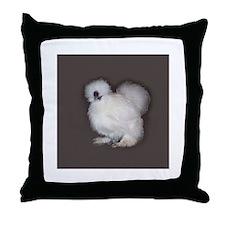 White Silkie Throw Pillow