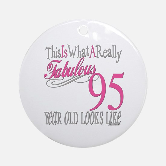 95th Birthday Gifts Ornament (Round)