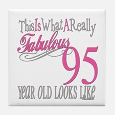 95th Birthday Gifts Tile Coaster
