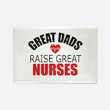 Dad of Nurse Rectangle Magnet (100 pack)