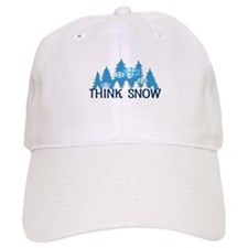 Think Snow Baseball Cap